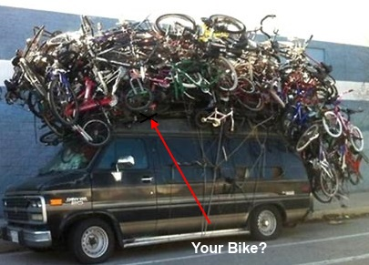 Hope your bike's not up there somewhere!