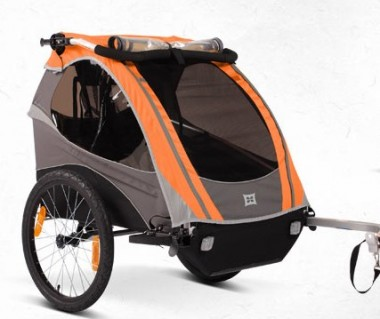 Burley Dlite Bike Trailer Review e1296165543281 Burley Dlite Bike Trailer Review  Not Fancy...But Smart?