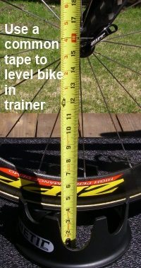 Leveling bike on Road Machine