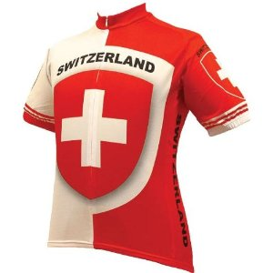Switzerland Swiss cycling jersey