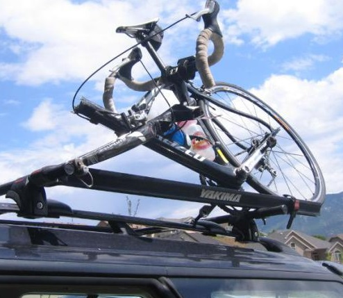 car roof bike rack garage