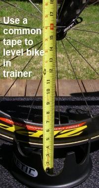 Leveling bike on Road Machine