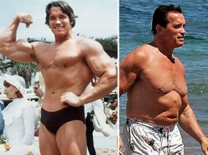 See how much stronger Arnold has gotten?